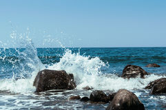 Shore of the island of Bali , the Indian Ocean Royalty Free Stock Images