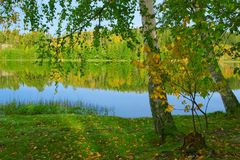 The shore of lake - 3 Stock Photography