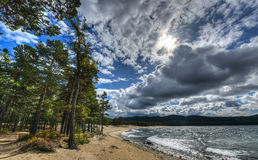Shore of Lake Baikal Stock Photos