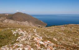 The shore of Lake Baikal. Royalty Free Stock Photography