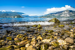 Shore of Lake Como in nord of Italy Royalty Free Stock Photo