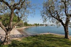 Shore of the Lake Garda in Bardolino, royalty free stock image