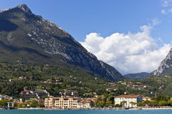 Shore of Lake Garda at Toscolano-Maderno in Italy Stock Images