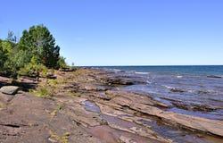 Shore of lake michigan Stock Photo