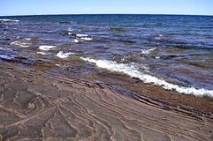 Shore of lake michigan Stock Image