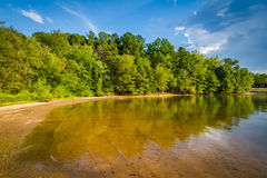 The shore of Lake Norman, at Ramsey Creek Park, Cornelius, North Royalty Free Stock Photography