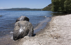 The shore of lake Taupo, New Zealand Royalty Free Stock Photo