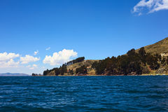 Shore of Lake Titicaca at Tiquina, Bolivia Royalty Free Stock Photo