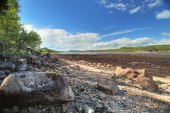 Shore of Letten lake in Vaermland, Sweden Royalty Free Stock Image