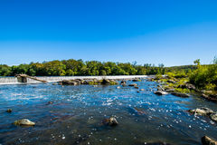 Shore Line of Great Falls Park, Virginia Side Summer time Stock Photography