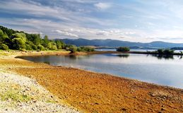 Shore - Liptovska Mara Lake. Shore at Liptovska Mara lake at autumn, Slovakia stock images