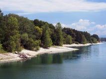Shore of Liptovska Mara lake royalty free stock photo