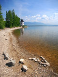 Shore at Liptovska Mara lake, Slovakia Royalty Free Stock Photo