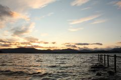 Shore by Loch Lomond Stock Image