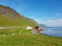 Shore of the Lofoten island royalty free stock photography