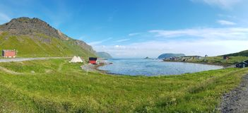 Shore of the Lofoten island stock images