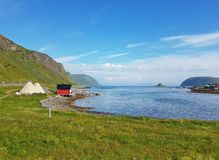 Shore of the Lofoten island royalty free stock photos