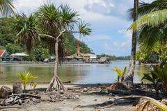 Shore Maeva French Polynesia Huahine island Stock Images