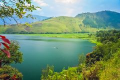 Magnificent Lake Toba in Sumatra. Shore of the magnificent Lake Toba on the Sumatra Island, Indonesia royalty free stock image