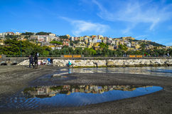 On the shore of the Mediterranean Sea in Naples Royalty Free Stock Image
