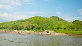 Shore of the Mekong River. View from the boat Royalty Free Stock Photo
