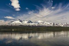 The shore of a mountain lake Stock Photography