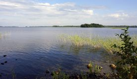 Shore of North lake, Russia Royalty Free Stock Photos