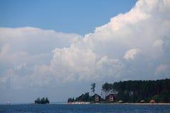 Shore of Ob Sea near Novosibirsk Royalty Free Stock Photo