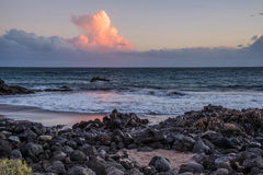 Shore. Ocean, shore, stones and clouds stock image