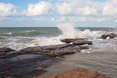 Shore Of The Caspian Sea. Stock Photos