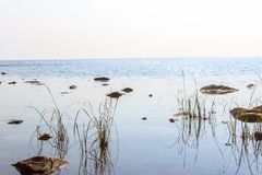 The shore of Lake Onego Stock Photo