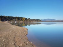 Shore at Orava reservoir (Oravská Priehrada) Royalty Free Stock Image
