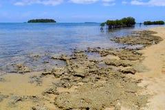 Shore of Pangaimotu island near Tongatapu island in Tonga. Kindom of Tonga is an archipelago comprised of 169 islands royalty free stock images