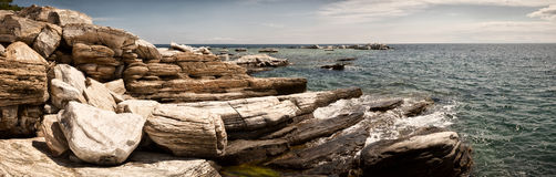 Shore panoramic view Royalty Free Stock Image