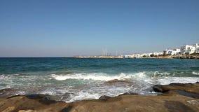 Shore of Paros island stock video