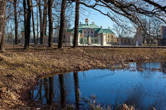 On the shore of the pond Karpin. Oranienbaum Royalty Free Stock Image
