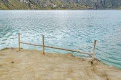 Shore at Quilotoa Lake, Latacunga, Ecuador Stock Photo