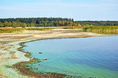 Shore of the river and ecological problems Royalty Free Stock Photography