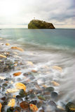 Shore and rock. Nature composition Royalty Free Stock Photography