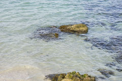 Shore, Rocks by the sea with waves of the Mediterranean sea next Stock Images