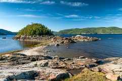 Shore of the Saguenay Fjord Stock Image