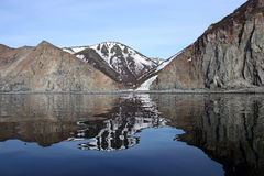 Shore of the sea of Okhotsk. Spring. Far East. Stock Photography