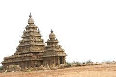 Shore temple. Historical shore temple at Mamallapuram-UNESCO world heritage center Royalty Free Stock Images