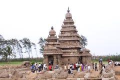 Shore temple. Historical shore temple at Mamallapuram-UNESCO world heritage center Royalty Free Stock Photography