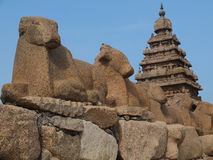 Shore Temple, Mahabalipuram, India royalty free stock images