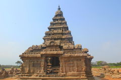 Shore temple in Mahabalipuram, India. Shore temple is one of group of monuments at Mahabalipuram, located 60km from Chennai city of India. Classified as UNESCO Royalty Free Stock Images