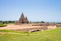 Shore temple at Mahabalipuram, Tamil Nadu, India. A UNESCO world heritage site. Located in Mamallapuram Stock Images