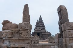 Shore temple in Mamallapuram,  India. Shore temple in Mamallapuram, Tamil Nadu, India Royalty Free Stock Photo