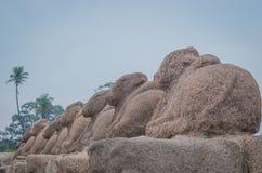 Shore temple in Mamallapuram,India. Shore temple in Mamallapuram, Tamil Nadu, India Royalty Free Stock Photos