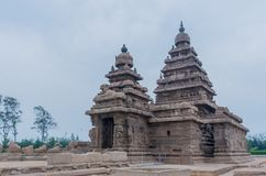Shore temple in Mamallapuram, Tamil Nadu. India. Shore temple in Mamallapuram, Tamil Nadu, India Royalty Free Stock Photo